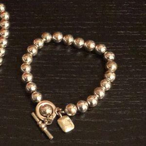 Ralph Lauren silver pearl statement bracelet only